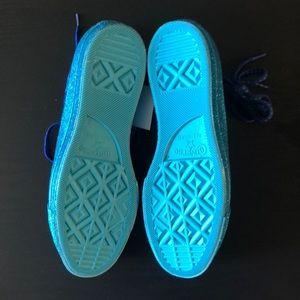 Converse Shoes - SALE! Converse Allstar Blue Glitter Miley Cyrus